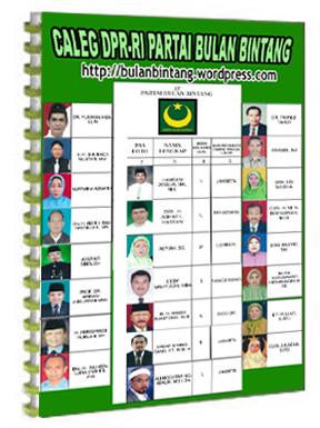 Daftar Caleg Dpr Ri Dari Partai Bulan Bintang Silahkan Download